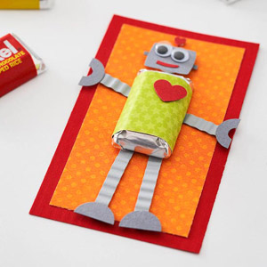 Robot Candy Card