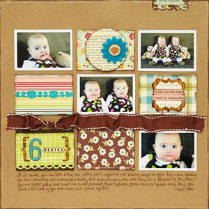 Young Baby Scrapbook Layout