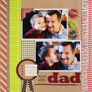 Time with Dad Layout