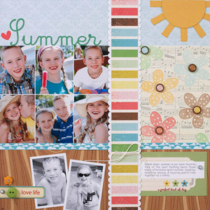 Whimsical Summer Scrapbook Page