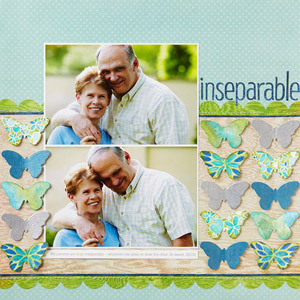 Artistic Scrapbook Page