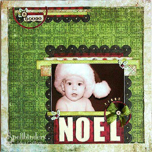 Noel Scrapbook Page by: Tina McDonald