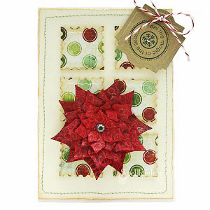 Poinsettia Patchwork Card by: Christine Emberson