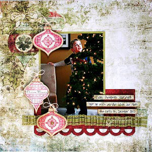 Christmas Memories Scrapbook Page by: Kimberly Crawford