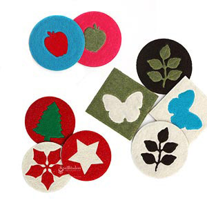Fun Felt Coasters by: Lesley Langdon