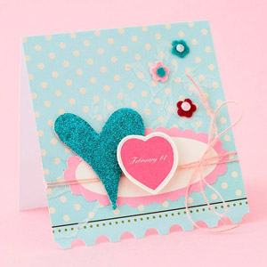 Glittery Heart Card