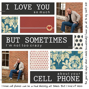 Cell Phone Scrapbook Page