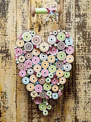 Wooden Spool Heart