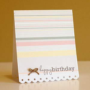 Pretty Bow Birthday Card