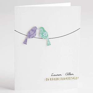 Love Birds Wedding Invite
