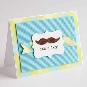 Mustache Baby Announcement