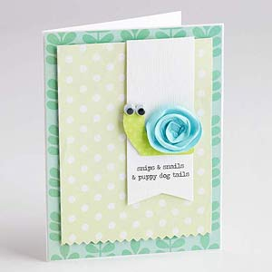 Cute Snail Baby Card