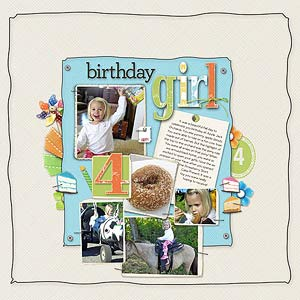 Digital Birthday Layout