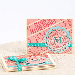Monogrammed Card