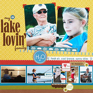 Lake Lovin' Scrapbook Page