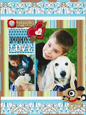 Puppy Love Layout