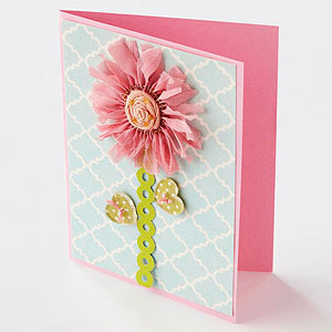 Patterned Button Card