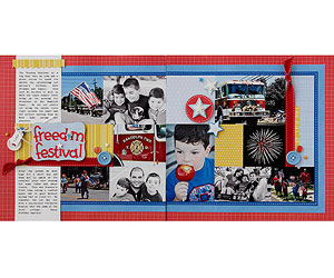 Freedom Festival Scrapbook Pages