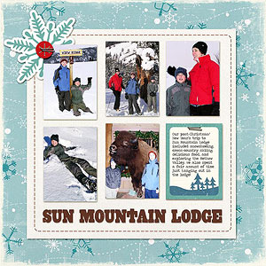 Mountain Lodge Scrapbook Page
