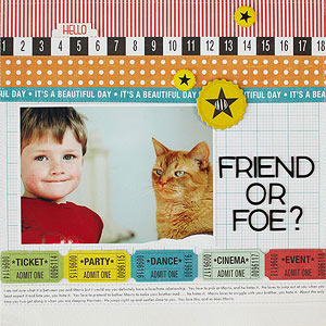 Cat Friend Layout