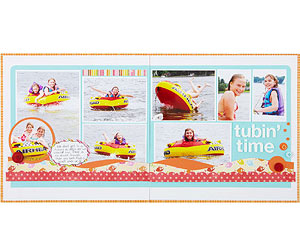 Tubin' Time Scrapbook Pages