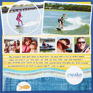 Awake at the Lake Scrapbook Page