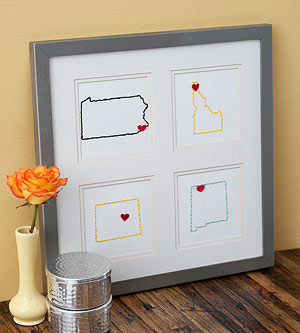 Framed State Embroidery