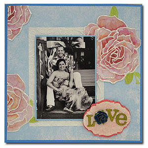 Finished Layout:  Use Liquid Pearls to embellish your scrapbook pages.