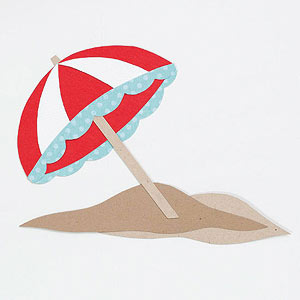 Beach Umbrella Paper-Piecing Pattern
