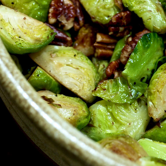 Fennel and Brussels Sprouts with Spiced Pecans