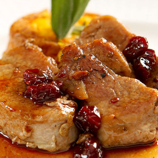 Pork Medallions with Blueberry Sauce