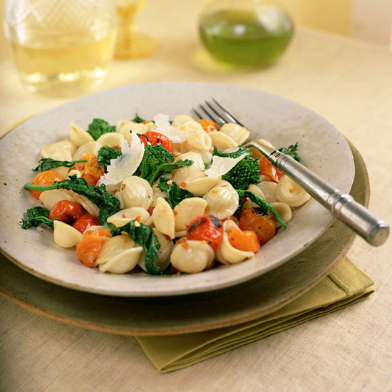 Orecchiette with Broccoli Rabe and Roasted Tomatoes
