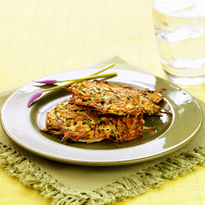 Black-Bean and Zucchini Pancakes