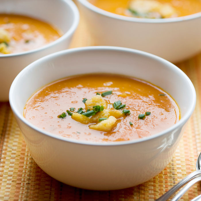 Spicy Curried Carrot Soup