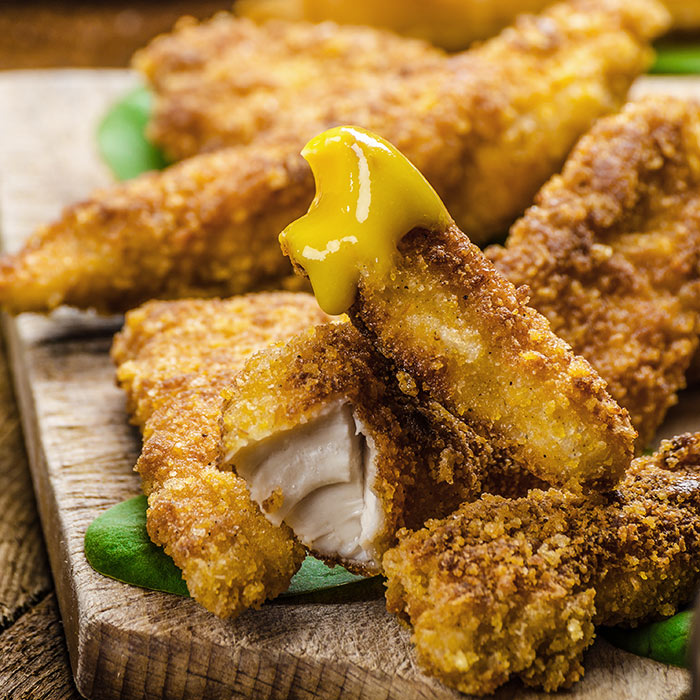 Healthy Chicken Fingers with Mustard Dipping Sauce