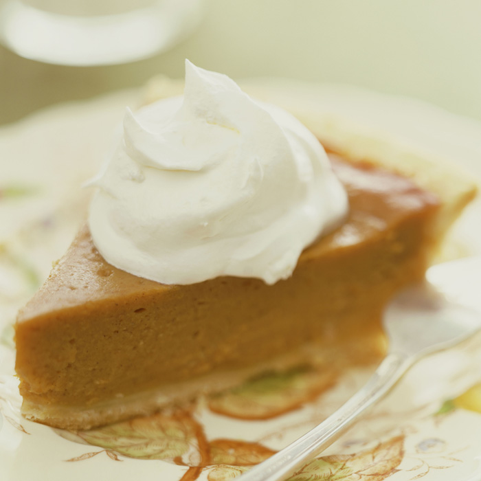 Sweet Potato Pie with Whipped Topping
