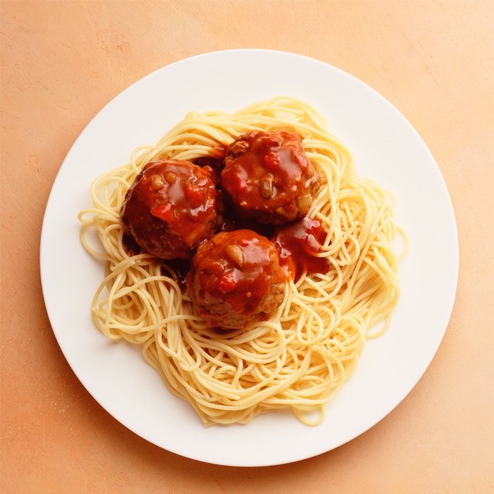 David Kirsch's Turkey Meatballs with Spaghetti Squash Marinara