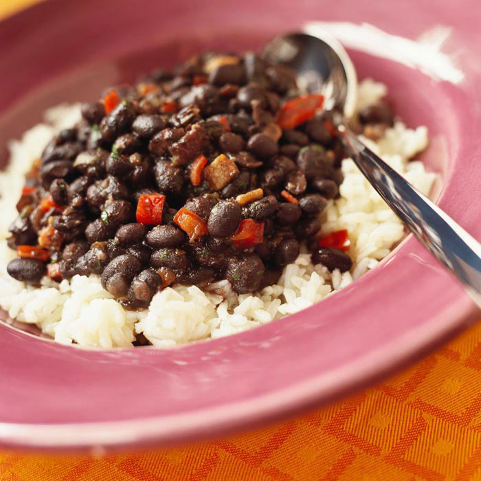 Mexican Rice and Beans with Ham
