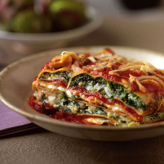 Goat Cheese and Three-Greens Lasagna