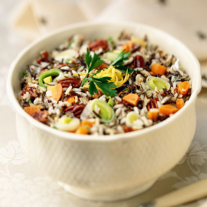 Wild Rice with Dried Cranberries