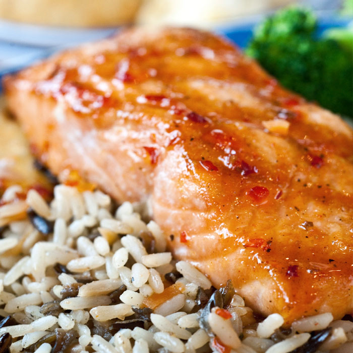 Double Mustard Maple Salmon
