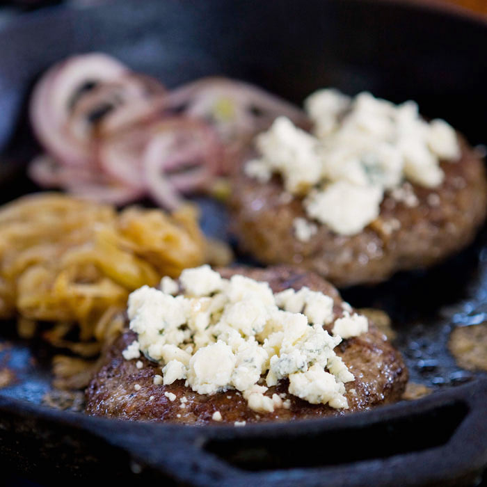 Healthy Blue Cheese Burgers