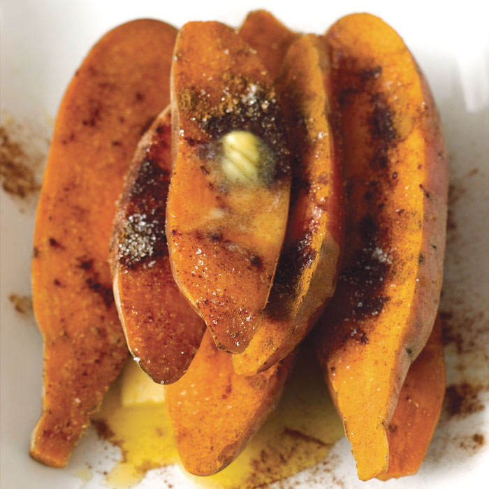 Baked Sweet Potato with Honey Butter