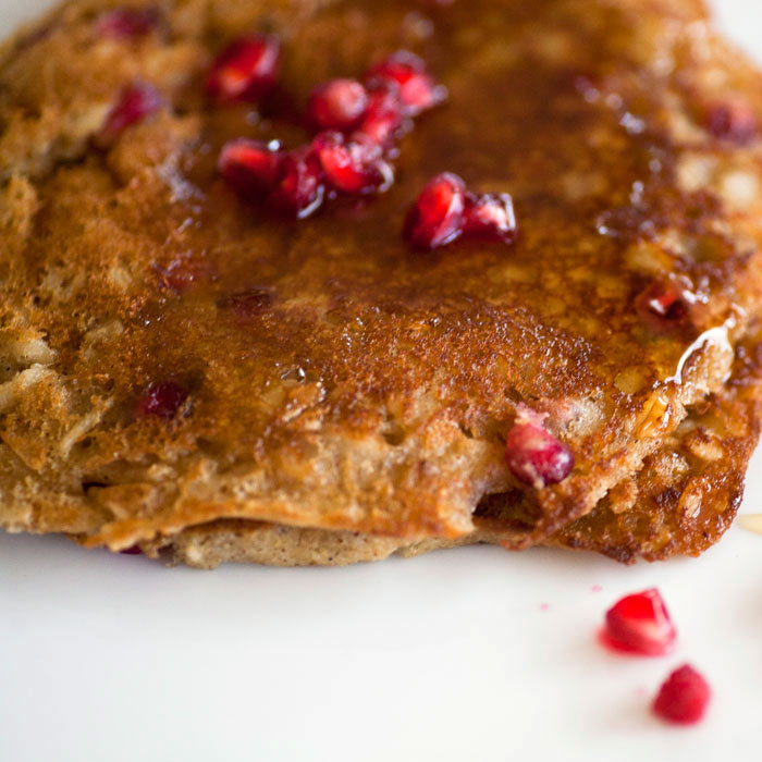 Healthy Pancakes with Pomegranate