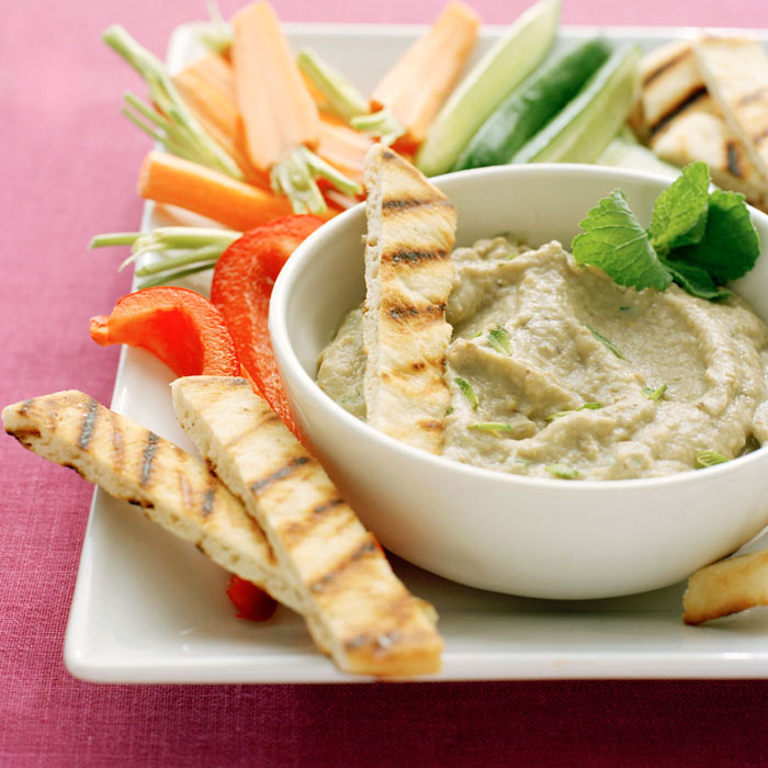 Pitas with Cumin-Scented Pinto Bean Pate
