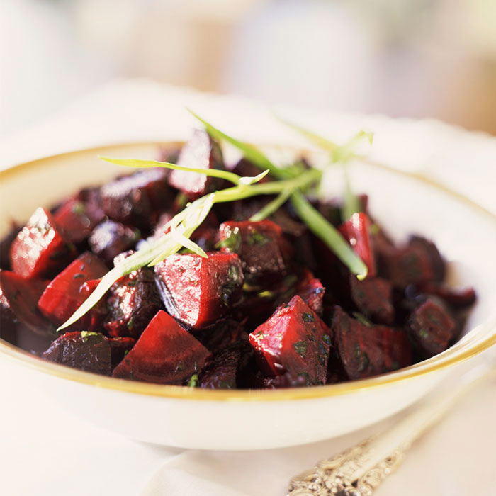 Roasted Beets with Honey-Horseradish Dressing