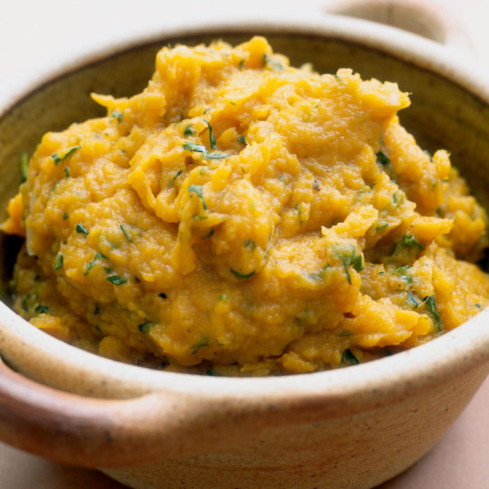 Mashed Roasted Sweet Potatoes