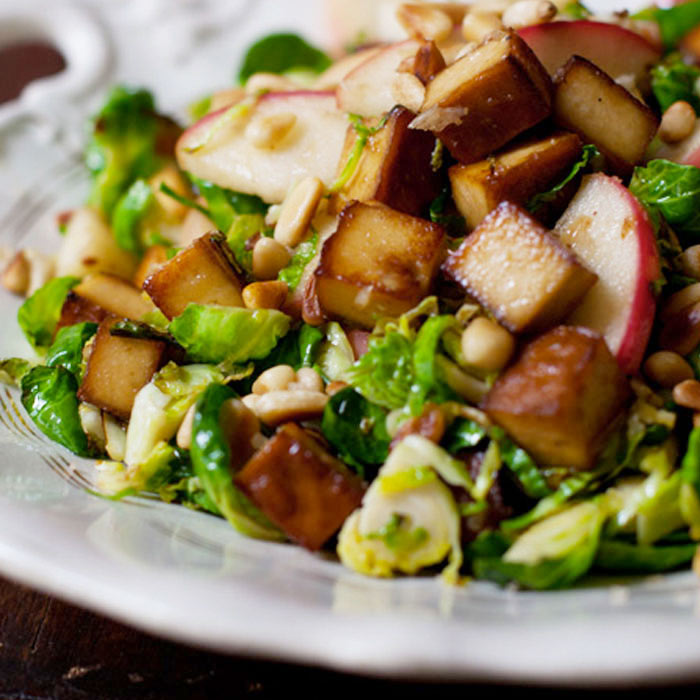 Shredded Brussels Sprouts and Apples