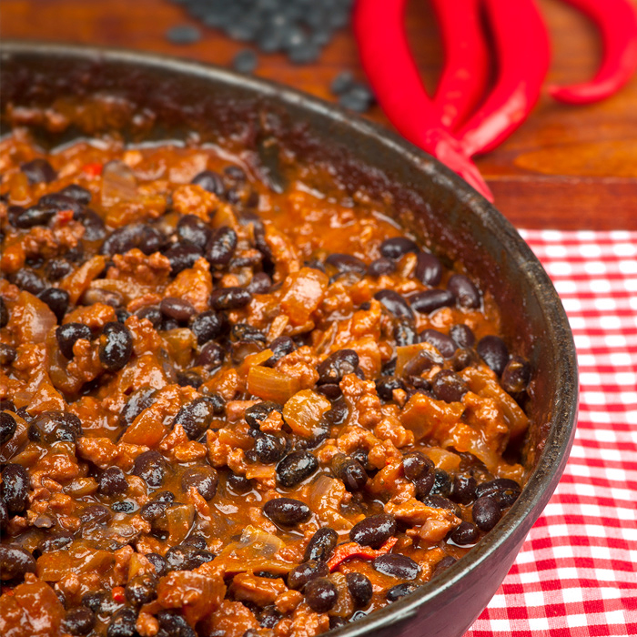 Chili Con Carne with Black Soybeans