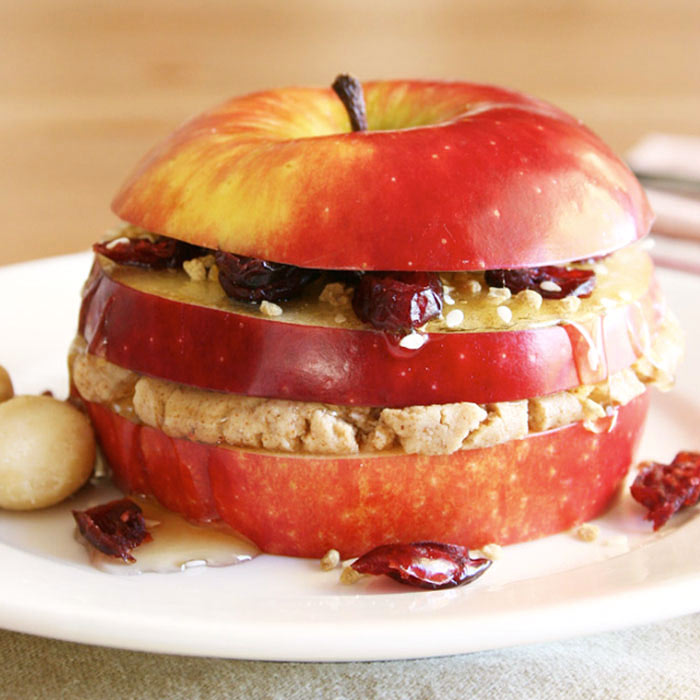Triple-Layered Breakfast Apple Sandwich